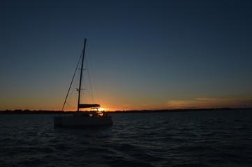 couché de soleil en mer