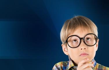 Kid thinking.