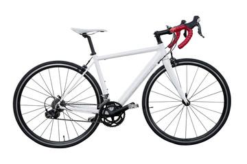white road bike isolated on white background