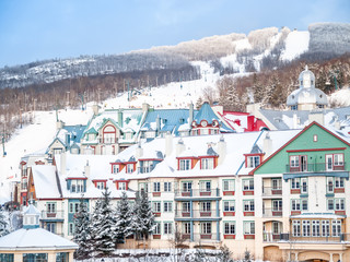 Mount-Tremblant, Quebec, Canada ski resort village