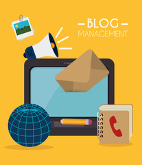 Blog and blogger social media design