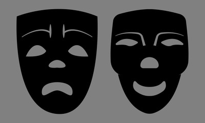 Sad And Happy Masks. Vector EPS 10.