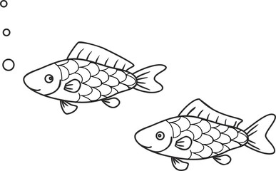 Coloring with fishes