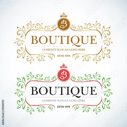Logo boutique vintage 28 images vintage frame floral for Boutique hotel logo