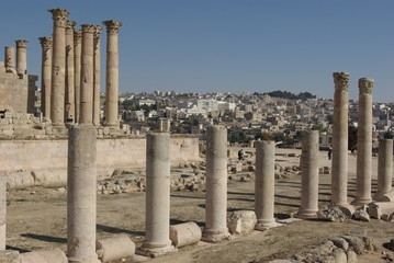 Jordanie, ruines romaines à Jerash