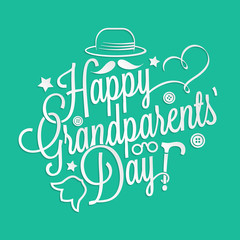 Happy Grandparents' Day lettering