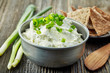 cream cheese with green onions and herbs