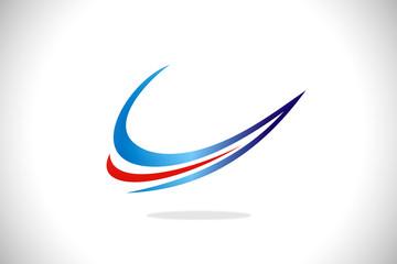 arrow abstract line vector logo