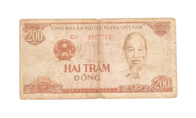 200 Dong bills of Vietnam