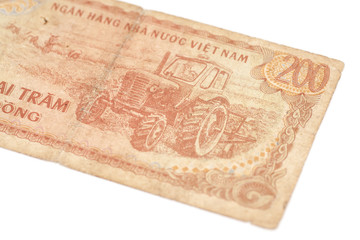200 Dong bills of Vietnam