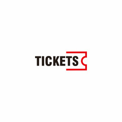 Tickets Logo Simple Outline