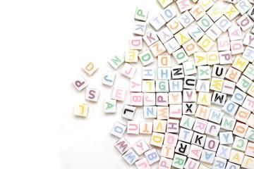 abc english alphabet as background