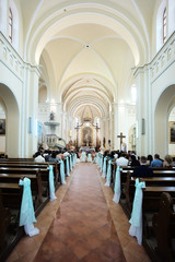 Aisle in Catholic Church