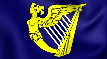 Blue Harp Flag of Ireland
