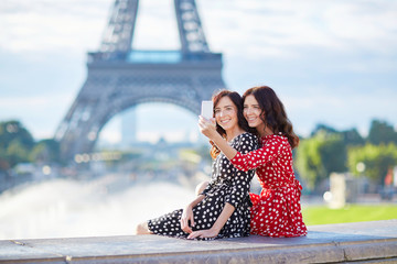 Beautiful twin sisters in Paris, France