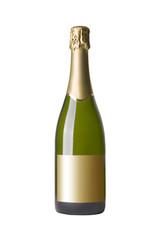 Champagner isoliert auf weißem Hintergrund