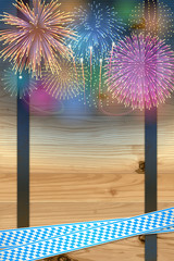 Oktoberfest background(Fireworks and Barrel)