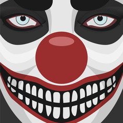 Evil Clown smiling Face
