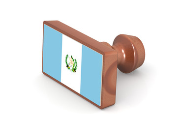 Wooden stamp with Guatemala flag