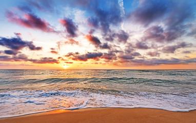Sunrise in the sea.