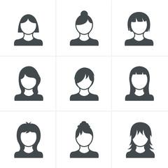 Woman Icons Set, Vector Design
