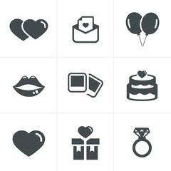 Wedding Icons Set, Vector Design