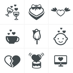 love  Icons Set, Vector Design