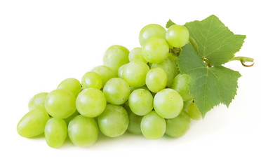 Grapes brunch closeup isolated on white background