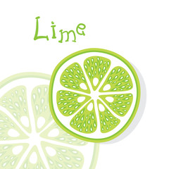 Lime vector citrus fruits