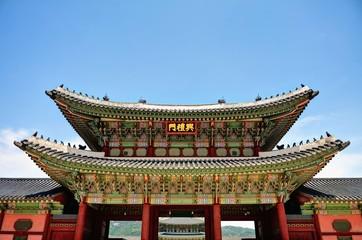 韓国 世界遺産 景福宮 勤政門の風景