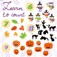 Learn to count  Halloween related cute collection