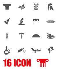 Vector grey italian icon set
