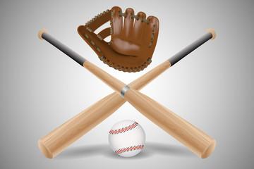 Baseball items isolated. Vector illustration.