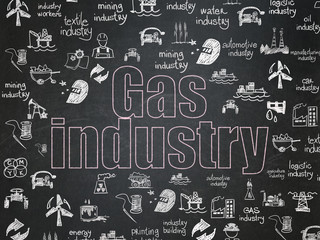 Manufacuring concept: Gas Industry on School Board background