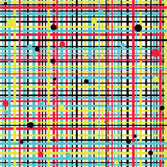 Seamless abstract texture with lines and dots.
