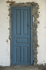 old damaged wood door