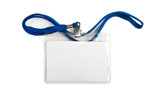 Badge  identification white blank plastic id card