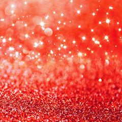 Red defocused glitter background