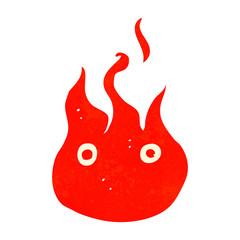 cartoon flame symbol