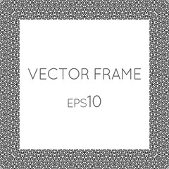 Vector square flower frame for text, images, monograms, photo