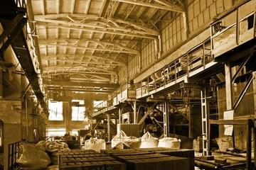 Huge industrial space hosting a hot rolling department