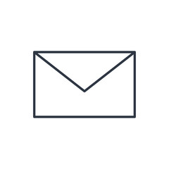 outline icon of mail