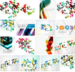 Set of various universal geometric layouts - backgrounds