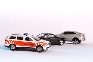 Verkehrsunfall und Notarzt