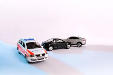 Verkehrsunfall von Modellautos