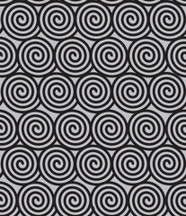 Seamless geometric background with spirals