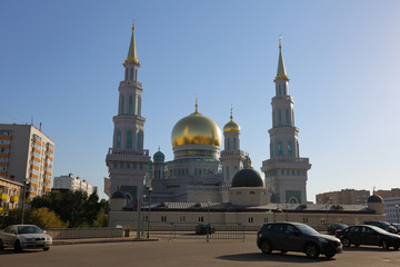 The largest and highest in Europe Muslim mosque. Moscow, Russia
