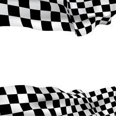 Background checkered flag