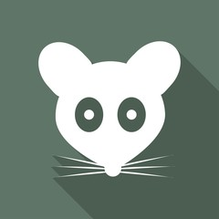Icon Mouse with a long shadow