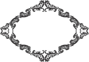 Baroque frame with acanthus